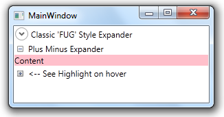 Keeping it Simple: Customizing the WPF Expander Icon